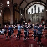 The York Dance Ensemble rehearses at the Grace Church on-the-Hill.