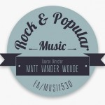 Matt Vander Woude's Rock and Popular Music Moodle Banner