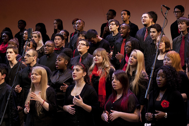 York University Gospel Choir in performance, Photo by Judy Karacs
