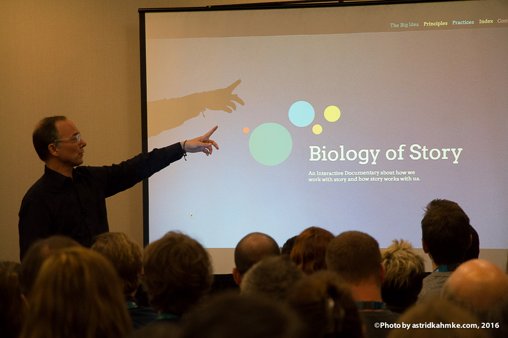Amnon Buchbinder presents 'Biology of Story' at SXSW in Austin, Texas