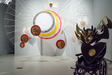 image from the exhibition Symbols of Endurance, works by Marlon Griffith at the AGYU in 2015