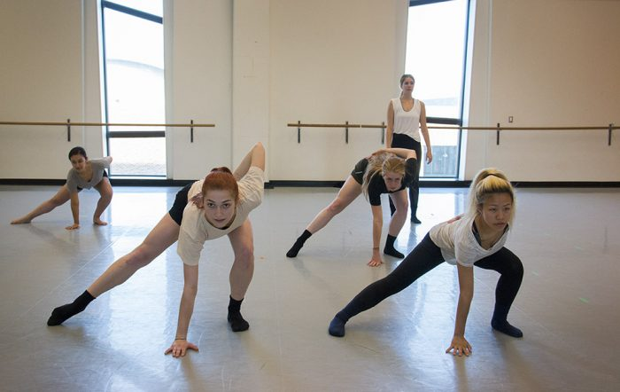 "Five dancers from Human Archetype Dance Co rehearse for ""C6"""