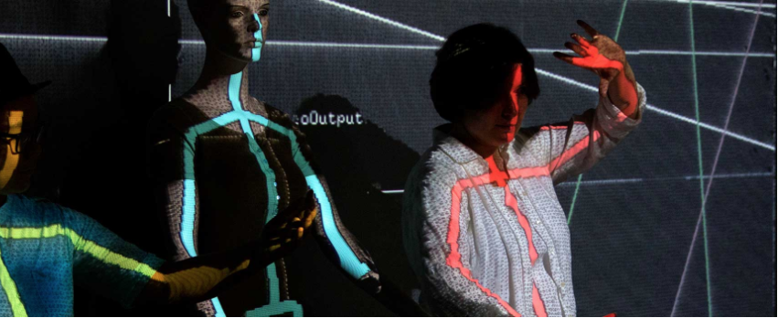 Skeleton tracking and projection mapping in the development of the Shadowpox installation/game in the Alice Lab