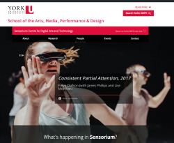 Sensorium Website Screenshot