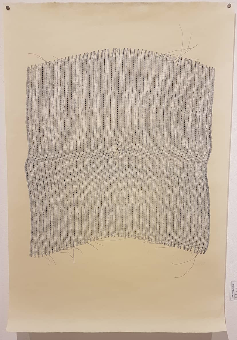Laura Sbrizzi's Flux (synthetic textile print on Japanese paper)