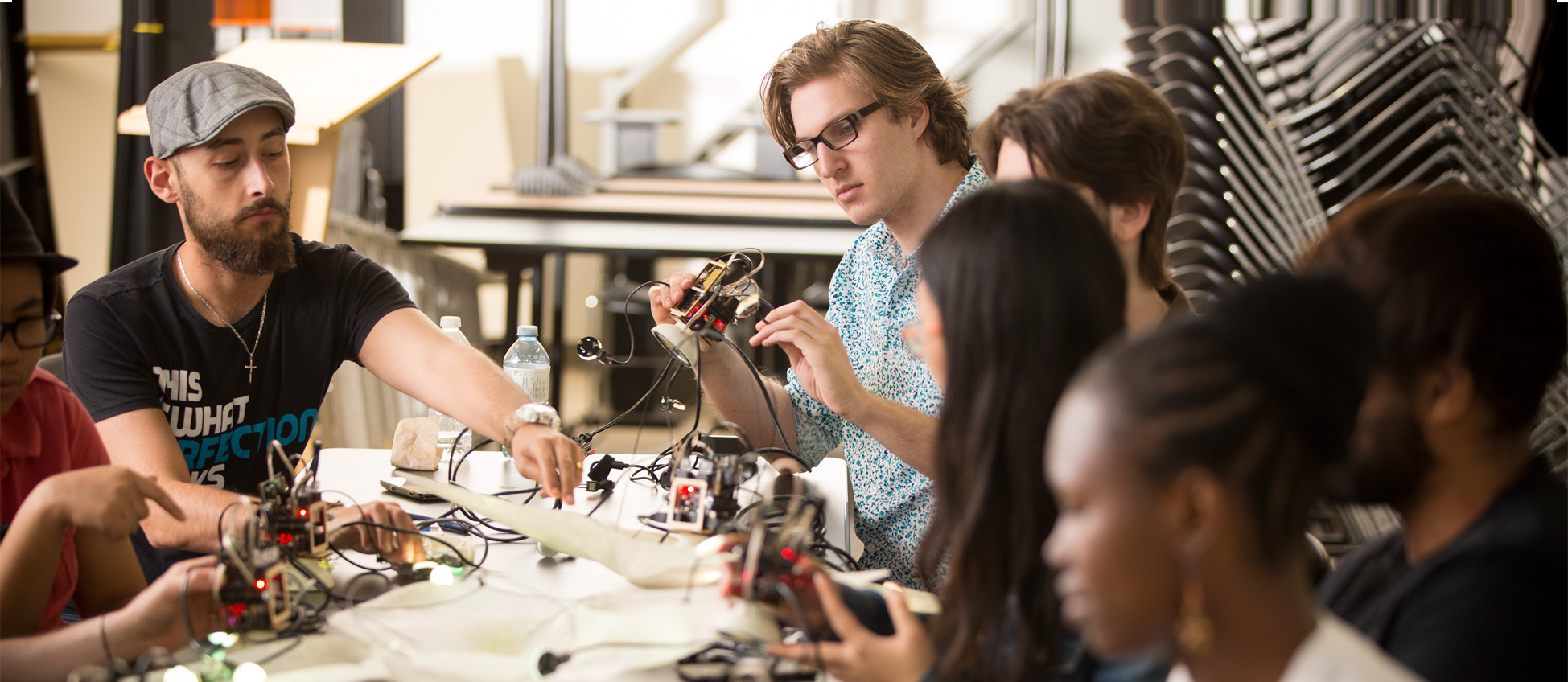 Students working in the LED Lab