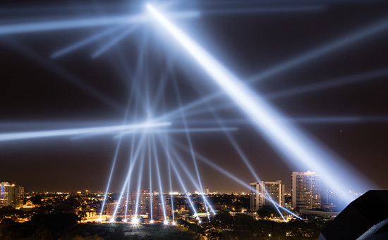 urban projection by Rafael Lozano-Hemmer