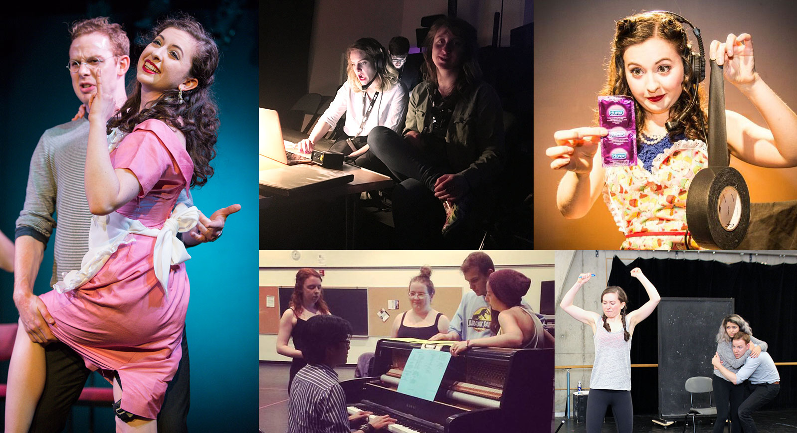 SMGTDA Rehearsal and performance photo collage