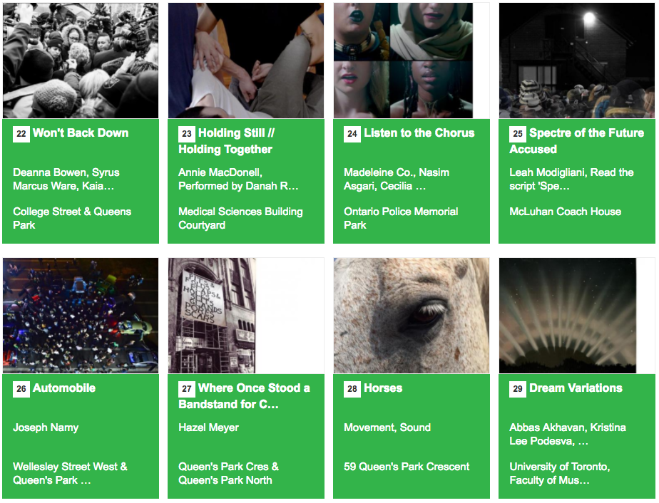 """The eight projects of """"Taking it to the Streets"""""""