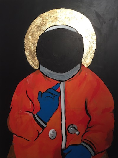 Coronation Evangeliar mixed media painting by Fernanda de la Mora