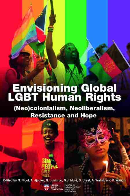 The cover of Nancy Nicol's book Envisioning Global LGBT Human Rights