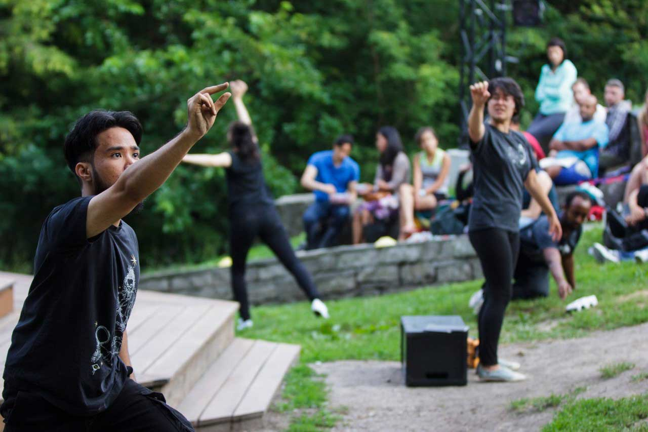 Aaron Jan Territorial Tales Canadian Stage Shakespeare in High Park. Photo by Nathan Kelly
