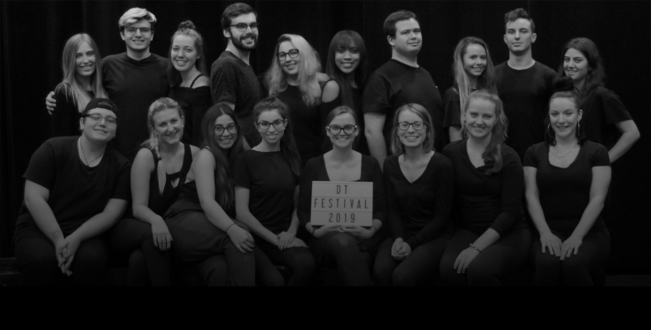 Group portrait of the Devised Theatre Festival team