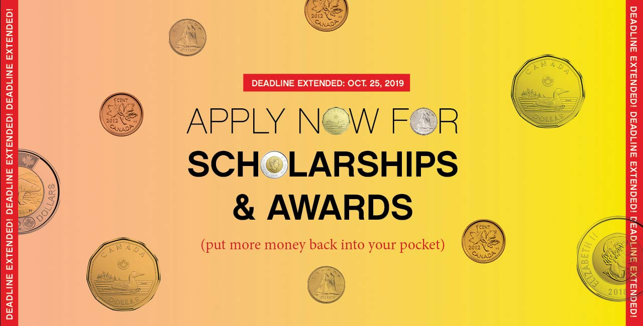Apply now for Scholarships and Awards!