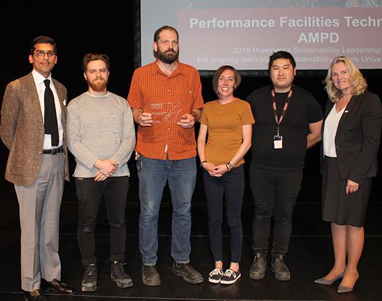 AMPD Performance Facilities accept their Sustainability Leadership Award