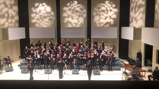 Christina performing in the York University Gospel Choir
