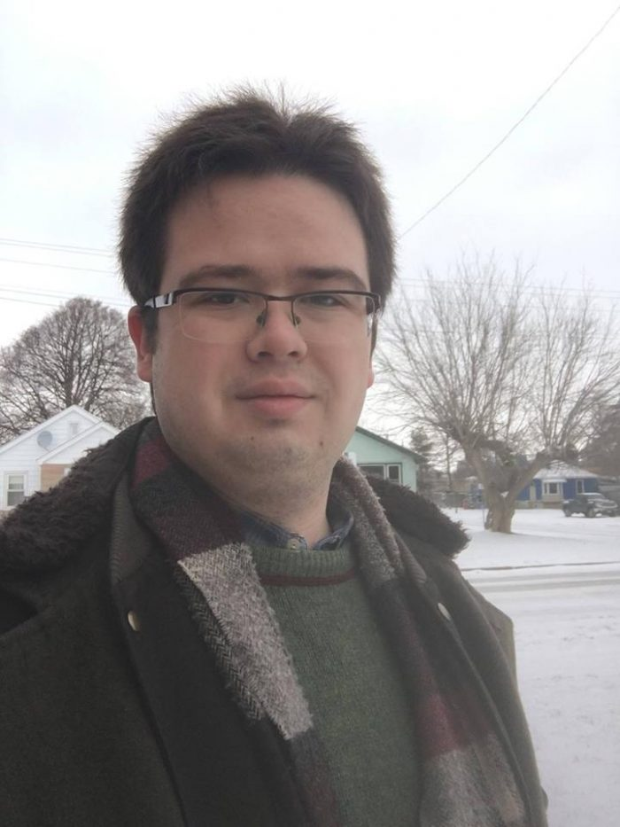 Adam outdoors in winter time