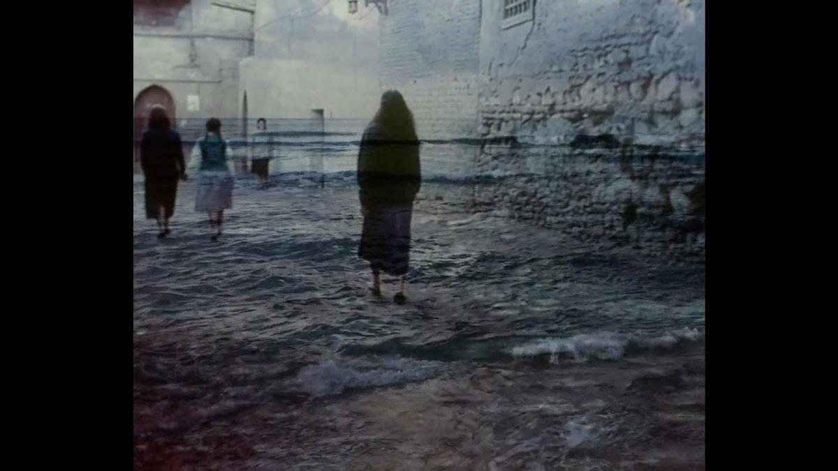 People walking on water