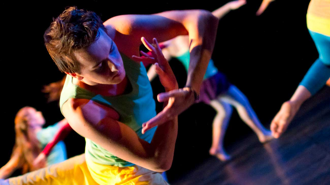 Close up of male dance performer