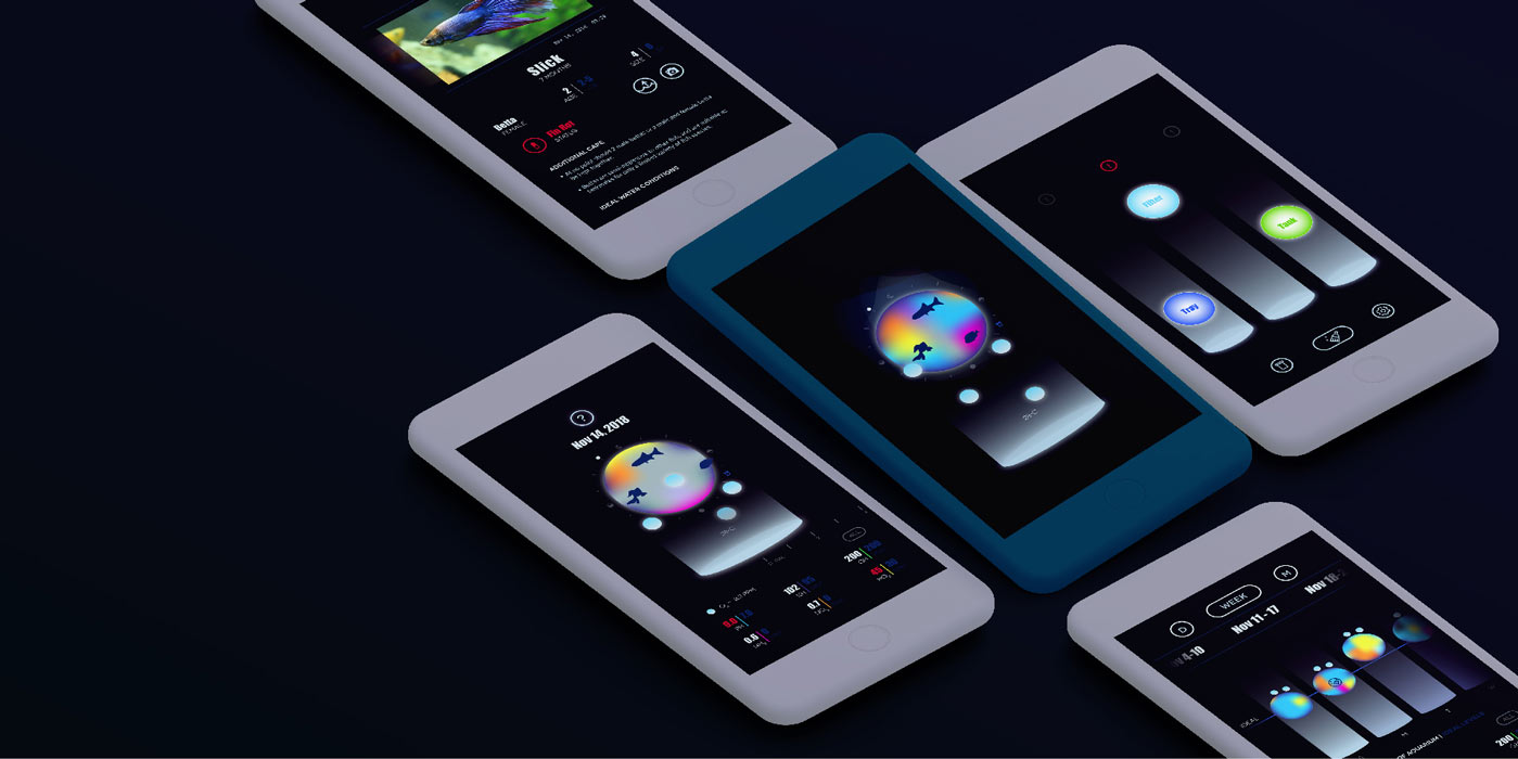 Student design work on phone