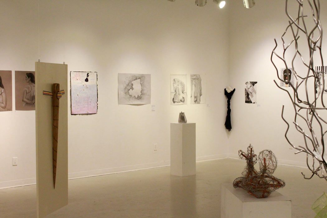 Gallery featuring student work