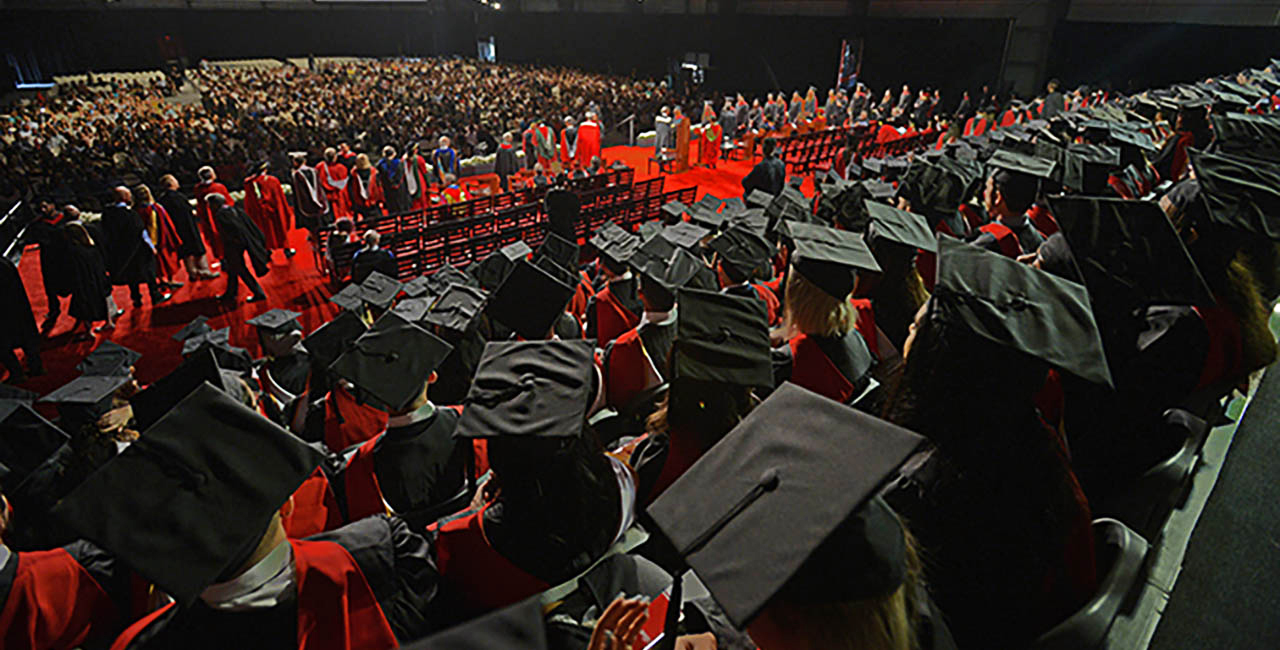 A York University convocation crowd