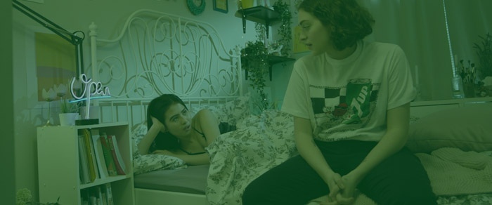 "A still from AMPD Film student Marlee Druker's film ""Nora Likes Girls"""