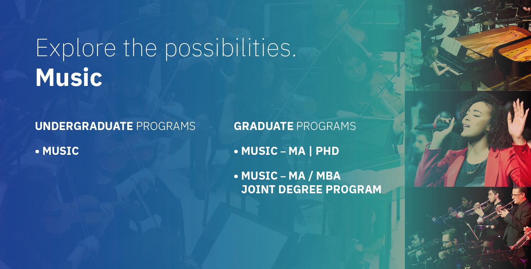 Music Undergrad and Grad Info