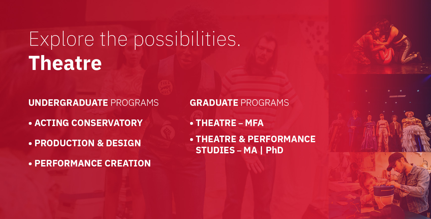 Theatre Undergrad and Grad Info
