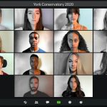 A zoom call featuring the 2020/21 4th year Acting Conservatory students.