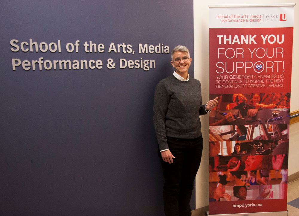 AMPD's Dean, Sarah Bay-Cheng, thanks donors and sponsors for their support of the AMPD faculty at York University.