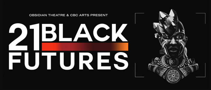 Obsidian theatre & CBC arts present 21 Black Futures, 3D image of a woman's face