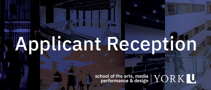 Applicant Reception with the School of the Arts Media Performance and Design