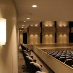 A lighting fixture in the Recital Hall